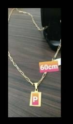 Promoção pra buscar hoje! Lindo cordão 60cm banhado a ouro 18k novo