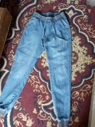 Calça jeans e rajada