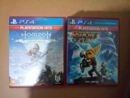 Jogo PS4 Horizon e Rotchet Clank