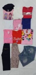 Lote de roupas infantil Tam 4