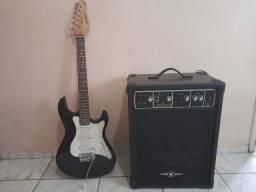 Caixa de som +guitarra