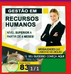 Faça já o Curso Superior Sequencial Gestão em Recursos Humanos.