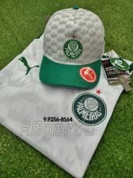 Kit presente do dia dos Pais camisa e boné do Palmeiras