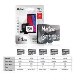 Cartão Micro SD 32 GB, 64 GB, 128 GB, Lacrado, Para Celular, Tablet, GPS, etc