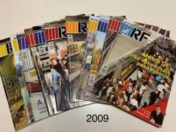Revista Ferroviária - RF Lote com Ano 70 (2009)completo