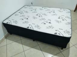 Cama Box Casal Conjugado Platinum Ambiente Móveis Preto (Frete Grátis)