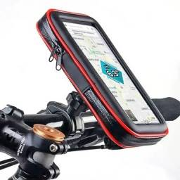 """Suporte de Celular até 6.3"""" Case Impermeável -Guidão de Moto  com Carregador USB 2A 360º"""