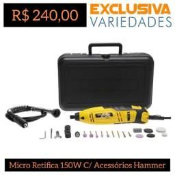 Título do anúncio: Micro Retífica 150W C/ Acessórios Hammer