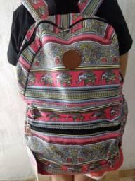 Mochila acolchoada de tecido feminina / entrego em mãos
