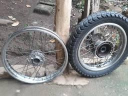Rodagem de moto Broz (350 reais)