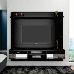 Painel Home Luxo Suspenso 02 Gavetas com Espelho TV até 65 Polegadas