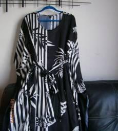Vestido tipo kaftan zinzane