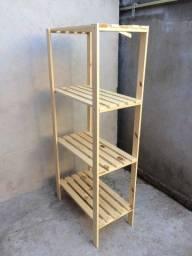 Estante 4 prateleiras de madeira