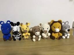 Bonecos de Amigurumis - O Safari