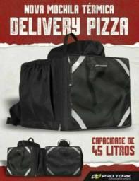 Mochila Motoboy Térmica Delivery Entregador Pizza Laches PRO TORK 45L