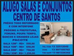 Título do anúncio: Salas para Locação no Centro de Santos, Ótimo Local