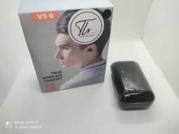Fones de ouvido com Caixa de 2200mAH (Carga de celular o Qualquer aparato Eletrônico)