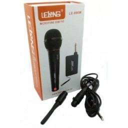 Microfone Sem Fio Le-996w Lelong Profissional