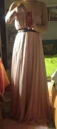 Lindo Vestido Festa Rosa Tomara Que Caia