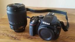 Dslr Nikon d5300 com lente Nikkor 18-140mm + Mala Lowepro Event Messenger 100