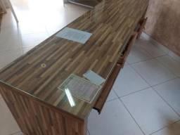 Mesa para Escritório com Vidro Temperado