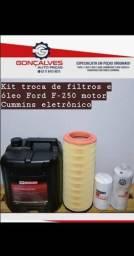 Kir troca de óleo e filtros f-250 motor cummins eletrônico