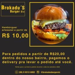 Hambúrger Artesanal BroKadu's no COROADINHO