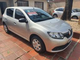 Renault Sandero Authentic 1.0 - Prata 2019 8.400km