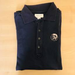 Camisa polo DIESEL manga longa azul escura tamanho P
