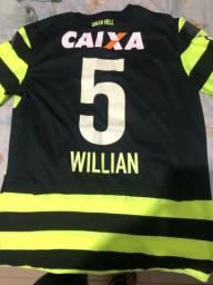 Camisa de jogo ... jogador Willian .. os patrocínios saíram .. Tamanho M