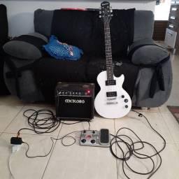 Guitarra Epiphone Série Espcial II (+Caixa amp, +Pedaleira)