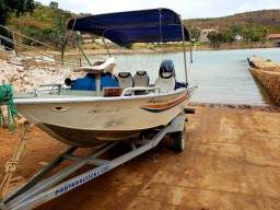 Lancha Pantanaltica com motor Mercury 60hp 4 tempos