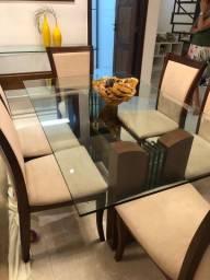 Vendo lindo conjunto de mesa, 6 cadeiras e parador