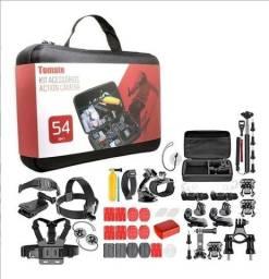 Maleta Acessórios com 54 peças Gopro 7 Black Hero+ 6 5 3 Câmeras Ação