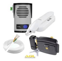 Kit Completo Interfone e Fechadura Eletrica 3x 182,00 No Cartão Crédito