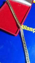 Pulseira Ouro 18 kilates - 10 gramas / 6 mm /oca 22 cm