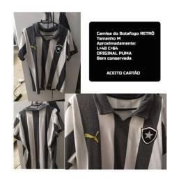 Camisa do Botafogo retrô listrada sem patrocínio original tamanho M