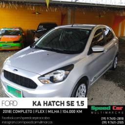 KA SE 1.5 Flex Hatch Completo + Som + Milha - 2018 - Oferta
