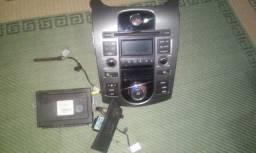 Rádio Kia Cerato original com controle ar com usb e com chicote