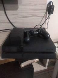 PS4 com 1controle e 2 jogos
