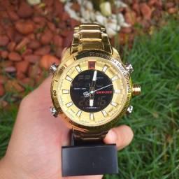 Título do anúncio: Relógio Masculino Naviforce 9093. Aço Inox.
