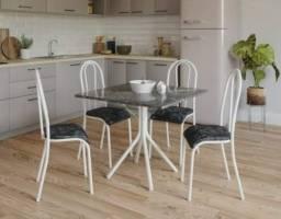 Título do anúncio: Mesa 75x75 Tampo Granito Topazio com 04 Cadeiras