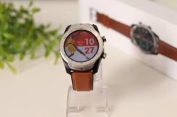 Relógio Inteligente DT79 Pulseira Marrom Original Bluetooth Modo Esportes Entrego