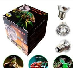Título do anúncio: Lampada Aquecimento Uva Uvb para Répteis Tartaruga Iguana Jabuti Lagarto Original