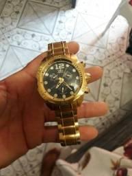 Relógio Vip Dourado - Original  ( banhado à ouro )