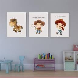 Kit de quadro infantil trio Toy Store