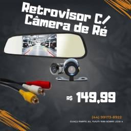 Kit Camera De Ré Hd  Espelho Retrovisor Lcd 4.3