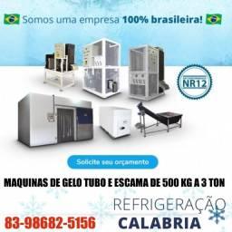 Título do anúncio: maquina de gelo de 500 a 3 ton   calabria
