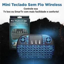 Mini Teclado Wireless Bluetooth Touchpad Sem Fio Iluminado