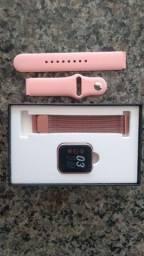 Relógio smartwatch p80 Roser com duas pulseiras